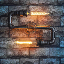 Vintage retro luces para pared de loft tubería de agua de fondo bar pub café pasillo escalera pasillo pub club pared apliques bra