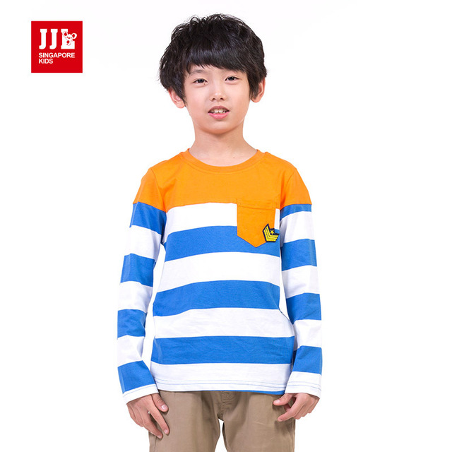boys t shirts long sleeve kids spring shirts striped brand shirts for children clothing 2015 new arrival boys t-shirts