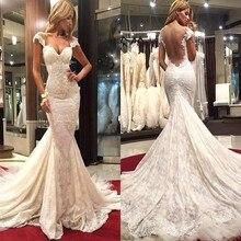 XGGandXRR Mermaid Wedding Dress Court Train Floor Length