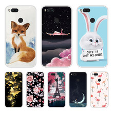 Case For Xiaomi Mi A1 Soft Silicone TPU Cool Design Pattern Printed Cover Coque For Xiaomi MiA1 Mi A 1 Phone Cases(China)