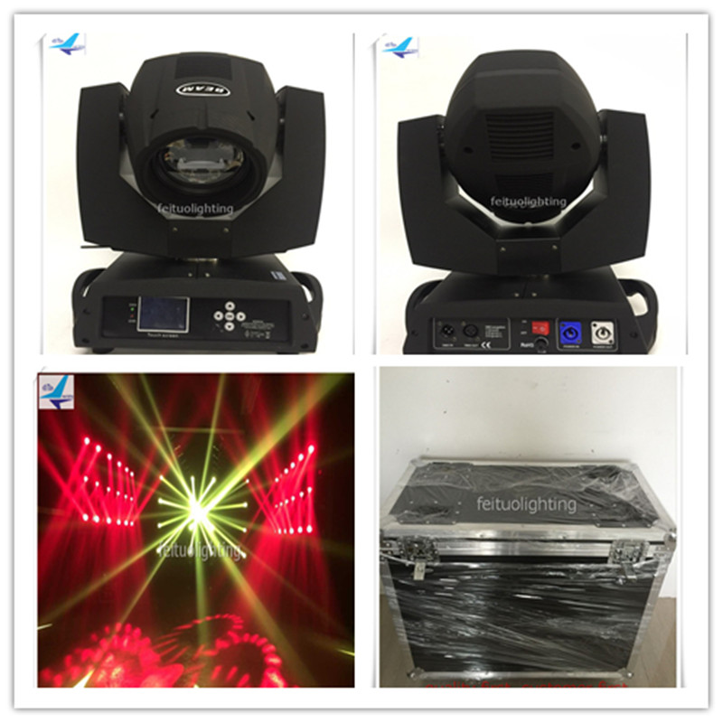 Free shipping (2pcs+flight case)Sharpy 260W beam moving head Lyre 8r Clay Packy 16 prism stage Lumiere disco dj party show light