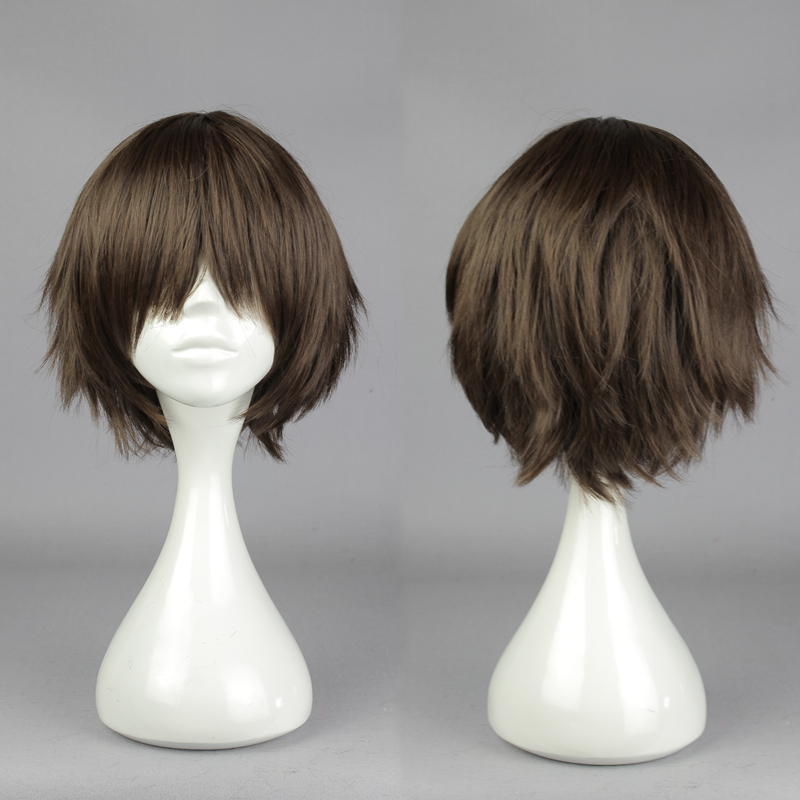 30cm Cute Short Haircuts Short Brown Cosplay Wig Seraph Of The End