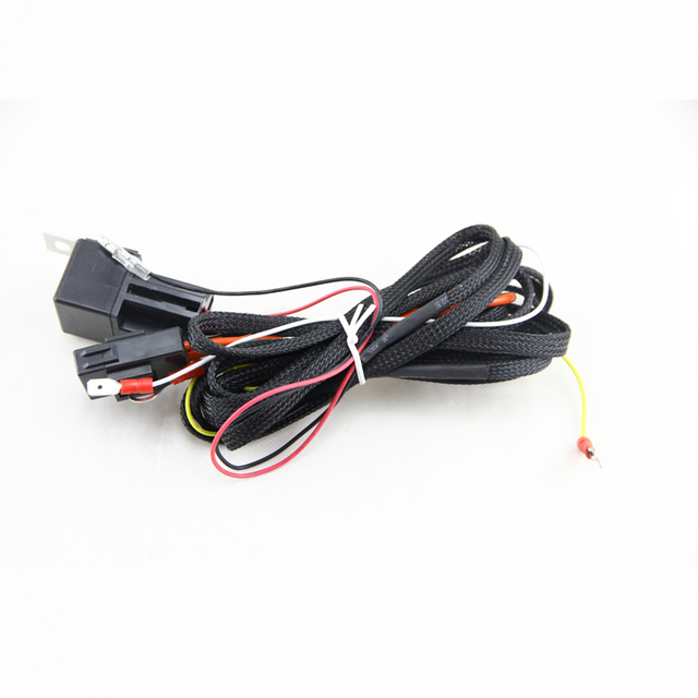 Led angel eyes daytime running lights repay wiring harness on/off ...