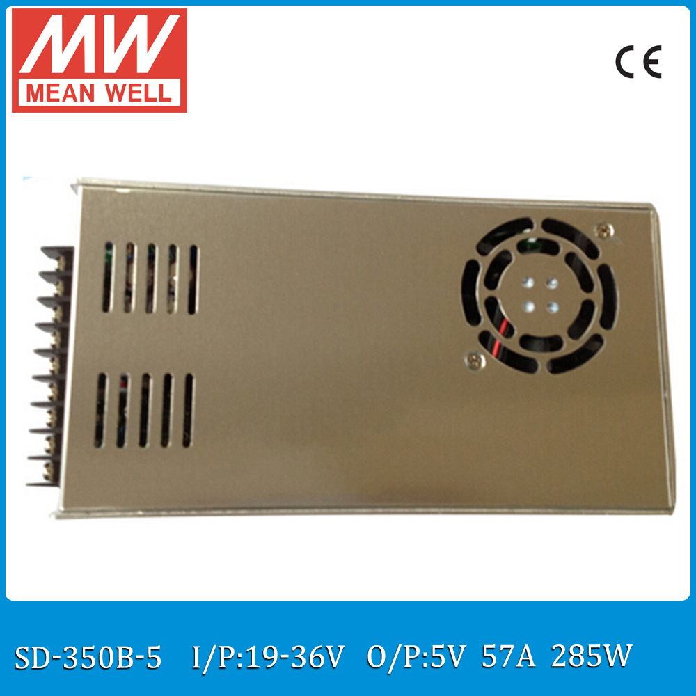 Original MEAN WELL SD-350B-5 Single Output 285W 57A 5VDC Input 19~36VDC meanwell 5V dc/dc converter цена