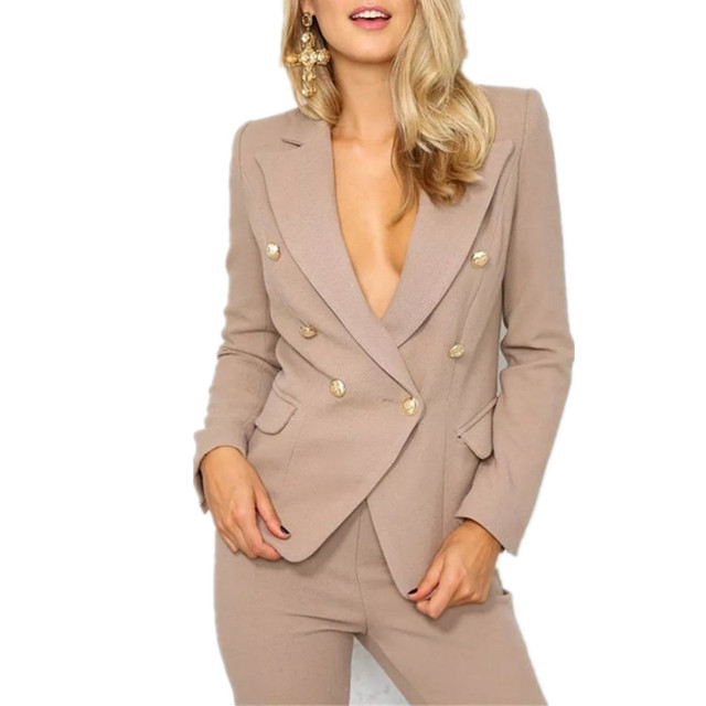 New European Blazer Feminino Single Breasted Female Jacket Suit Casual Women Blazer Office Suit Lf27