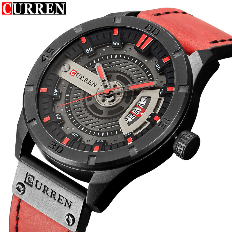 2018 Men's Military Sport Quartz Watch Curren Watches Men Brand Luxury Leather Waterproof Wristwatch Man Clock Relogio Masculino лосьон iv san bernard traditional line clean eye lotion для очистки глаз кошек и собак 250 мл