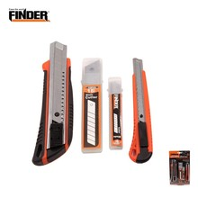 FINDER 4PCS Utility Knife Set With Replacement Blade Metal Mini Photo Box Paper Cutter Safety Craft Tools Office School Supplies
