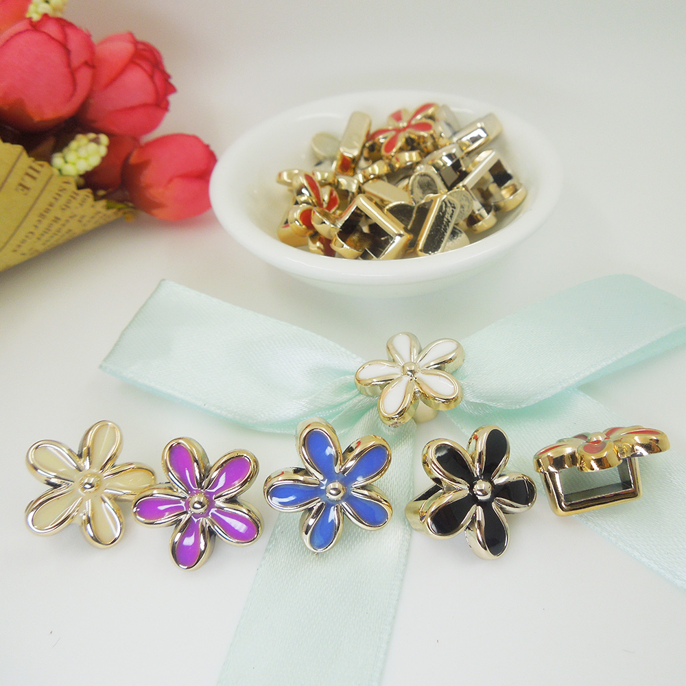 20/20/10mm,20pcs uv plated rose flower gold no fade ribbon buckles acessories Invitation Ribbon Slider Headband Hair Clip DIY