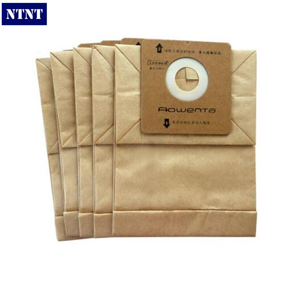 NTNT 5X For Rowenta Vacuum Cleaner Paper Dust Bag Accessories Multifunctional Replacement for RO1121 RO1122 RO1124 ZR0007