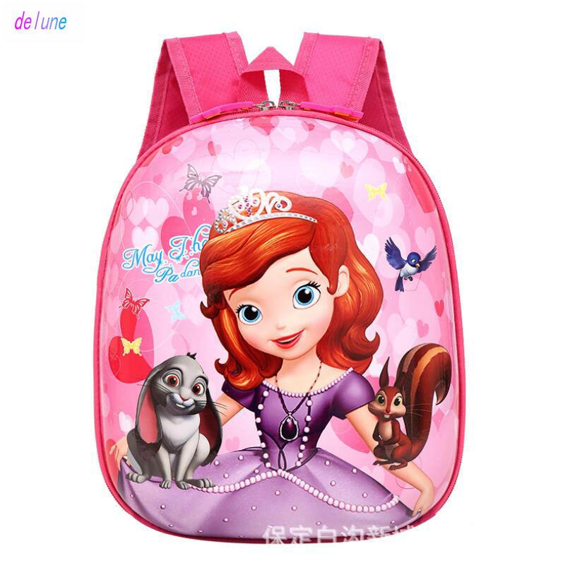 New Sofia Cute Kid School Bags Cartoon Character 3D Style Children Backpacks Kindergarten Girls Boys Baby Backpack