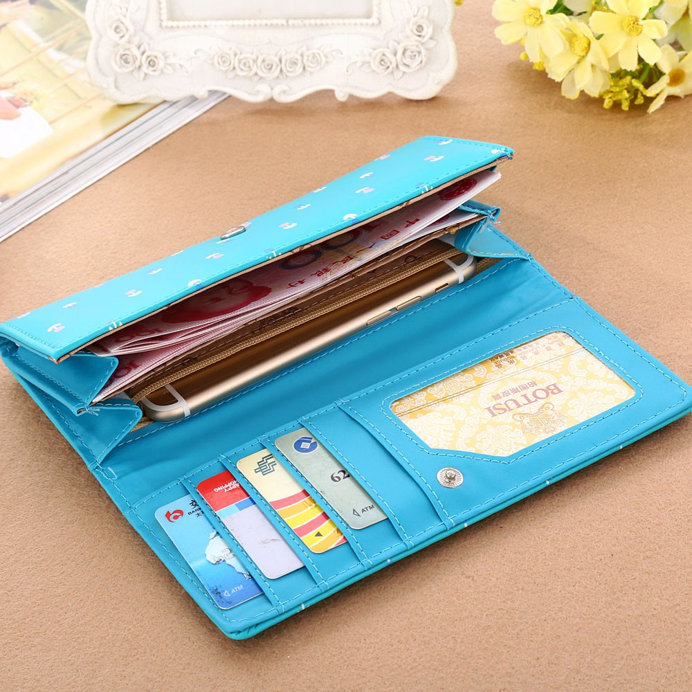 Aelicy New Envelope Clutch Large Capacity Wallet For Women PU Leather Hasp Fashion Wallet For Phone Money Bags Coin Purse 3