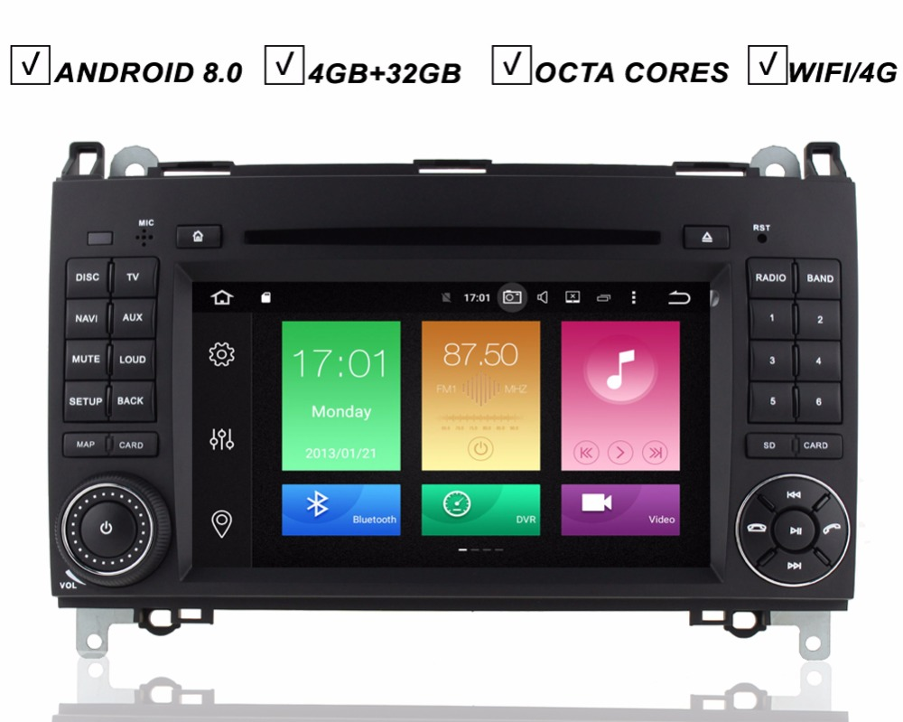 Auto Android 8.0 Auto DVD GPS-Player Fü<font><b>r</b></font> Mercedes Benz Sprinter VW <font><b>Crafter</b></font> W906 Viano Vito W169 W245 Octa Core 4g RAM 32g ROM Wifi image