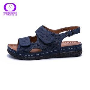 Image 4 - AIMEIGAO בתוספת גודל מזדמן נשים סנדלי נעלי דירות נוחות עקבים נעליים לנשימה חיצוני נמוך העקב נוחות נעלי 2019 חדש