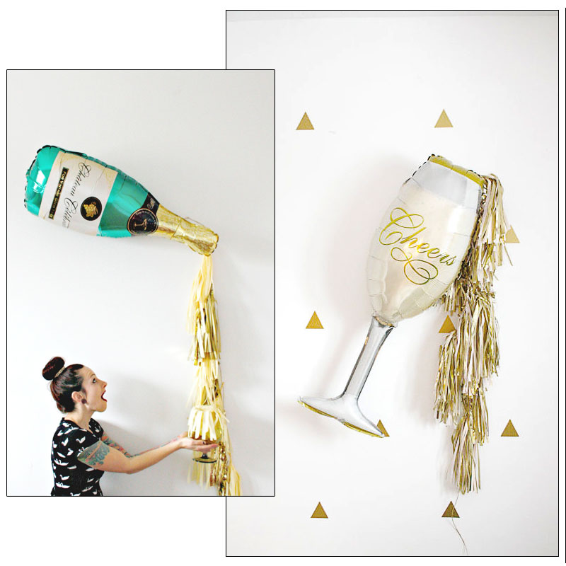 Champagne Foil Balloons 1