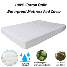 150X200CM Mattress Pad Cover Cotton Quilt Waterproof Mattress Pad For Bed Cover Matelas Queen Size Bed Protector Anti Mites