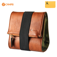 CANPIS Vintage Storage Bag Imitation Leather and Canvas for Mirrorless Pocket Camera for Sony Fuji Leica
