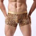 Super Sexy Men Leopard Underwear Edge Gold Mighty Men's U Convex Bag Underpants Boxer