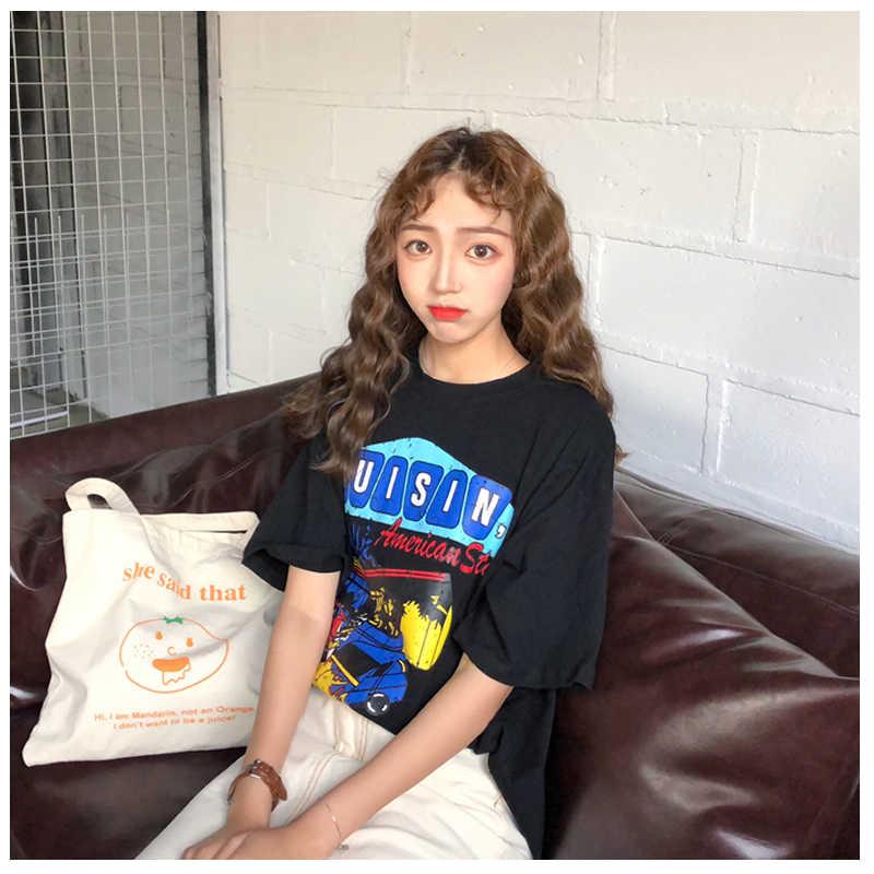 3 цвета Mihoshop Ulzzang корейский Корея для женщин модная одежда лето Harajuku панк прохладный улица мультфильм печати футболка Топы корректирующие