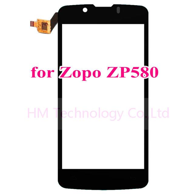 "4.5 ""negro tp para zopo zp580 pantalla táctil de cristal del panel top digitalizador sensor no lcd de repuesto para teléfono móvil shipping + herramientas"