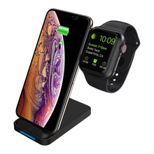 Qi Wireless Charger For Apple Watch 4 3 2 iPhone 8 Plus X Xs Max XR Samsung S9 S8 QC 3.0 USB Fast Charging Holder