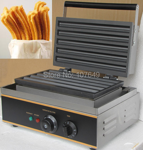 110v 220V Commercial Use Non-stick Electric Churro Waffle Maker Iron Machine Baker