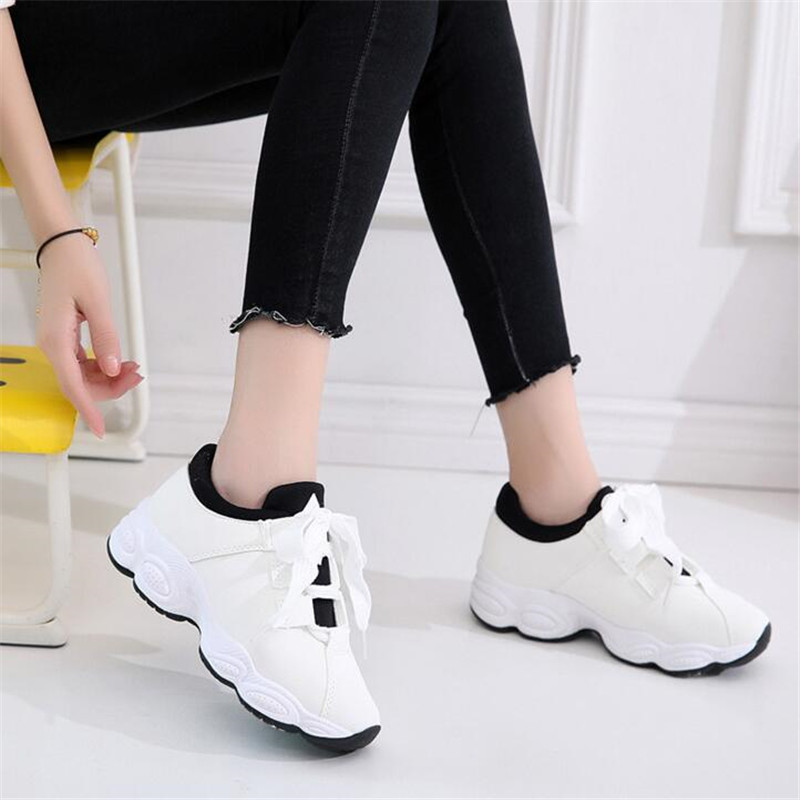 2019 New Summer White Sneakers Women PU Leather Breathable Casual Shoes Female Winter Vulcanized Walking Shoes Tenis Feminino