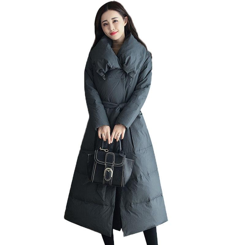Winter Jacket Women Coat   Parkas   Slim Elegant Chaqueta Mujer Long Jacket Plus Size   Parka   Double Breasted Ladies Winter Coats Z7