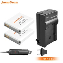 2X NB-6L NB6L NB 6LH 6L Battery+Portable Wall Charger for Canon IXUS 310 SX240 SX275 SX280 SX510 HS 95 210 300 S90 S95 L20