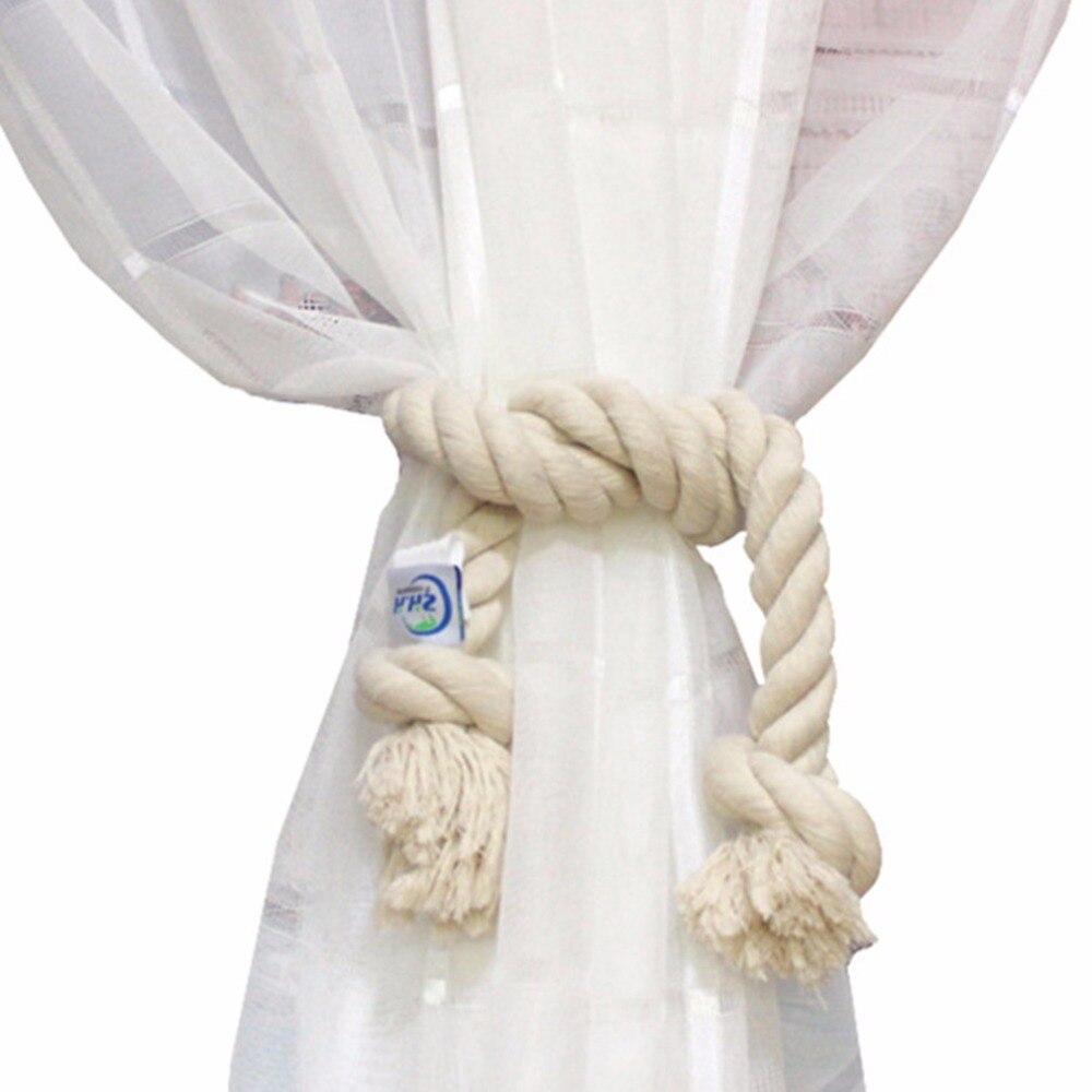 ZHH 1 дана Twisted арқан Curtain Tieback Holdbacks - Үйдің декоры - фото 6