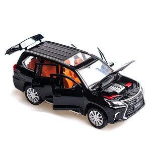 Image 3 - 1/32 לקסוס LX570/NX200t סימולציה צעצוע מכונית מודל סגסוגת למשוך בחזרה ילדי צעצועי אמיתי רישיון אוסף מתנה Off  כביש רכב