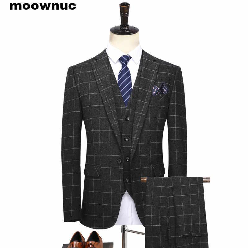 2019 新メンズスーツビジネスカジュアルブティック 3 点セットスーツ男性シングルブレストクラシックウェディングスーツ男性のためのサイズ S-4XL