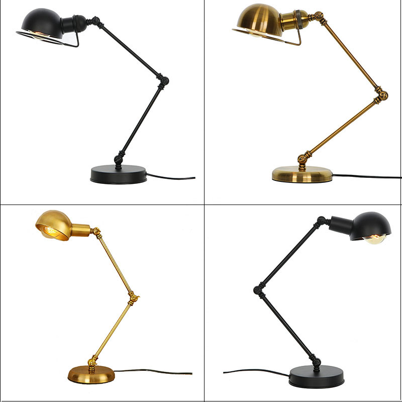Classical Led Table Lamp Switch Reading Bedroom Living Room Vintage Desk Light Lamp Iron Adjustable Arm Tafellamp Black CopperClassical Led Table Lamp Switch Reading Bedroom Living Room Vintage Desk Light Lamp Iron Adjustable Arm Tafellamp Black Copper