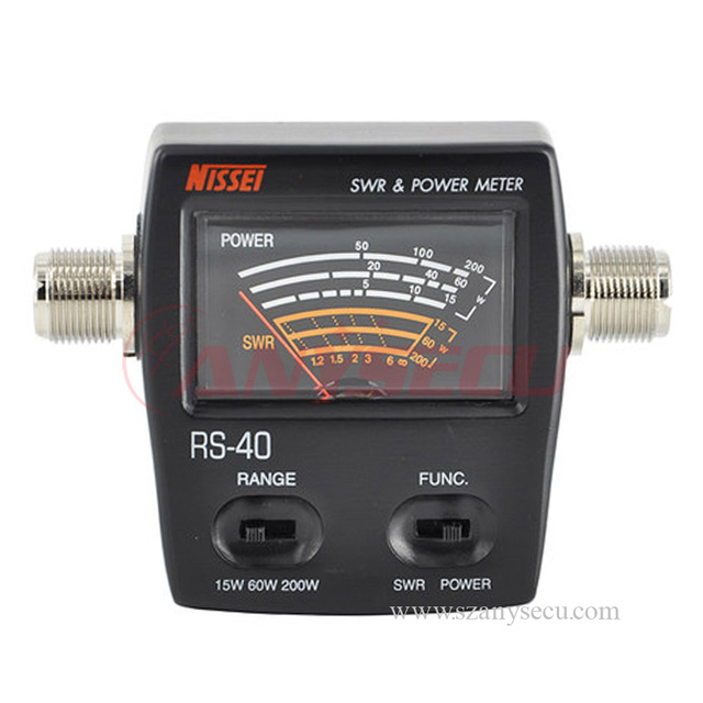 Brand New Genuine Original NISSEI RS-40 Measurable Range 200w,with Adapter Connector, RS40 Power SWR Meter,replacing redot 1050A