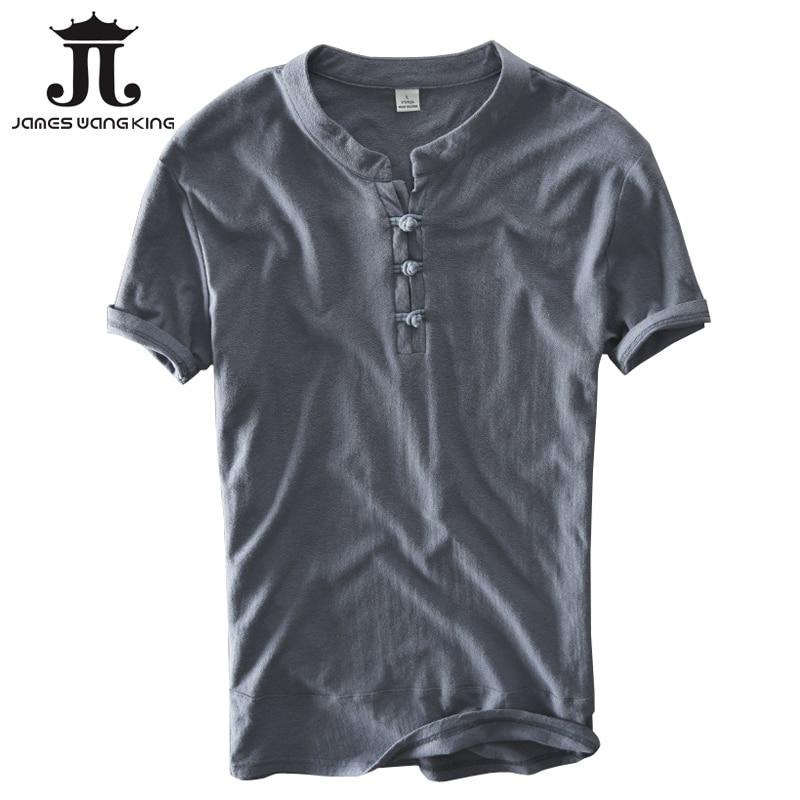Hot linen cotton shirts men summer white shirts Chinese style shorts sleeve slim shirt chemise homme camisa masculina M-XXX