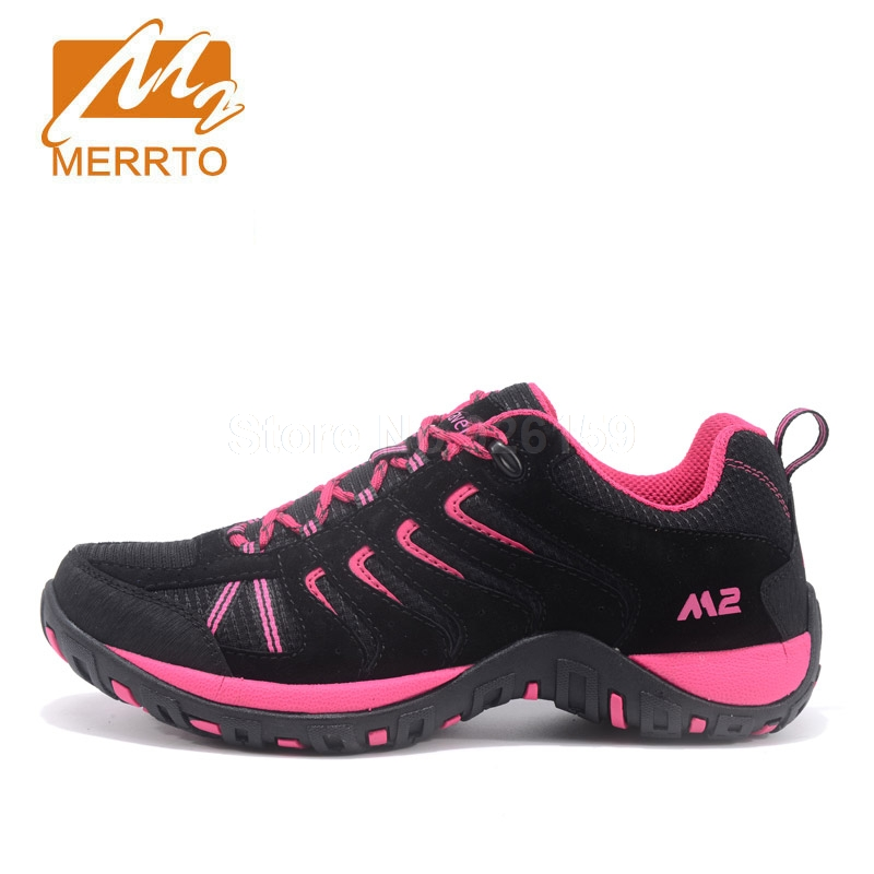 MERRTO Women Outdoor Hiking Shoes Winter Boots Suede Leather Trekking Shoes Breathable Walking Sneakers Women Sports Sneakers yin qi shi man winter outdoor shoes hiking camping trip high top hiking boots cow leather durable female plush warm outdoor boot