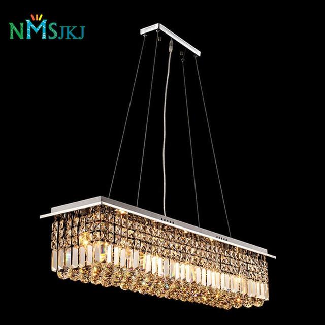 moderne luxury lustre rechteckige kristall kronleuchter fr esszimmer lampe schlafzimmer foyer beleuchtung befestigung fhrte birnen inbegriffen - Kronleuchter Fur Foyer