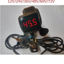 24 В/36 В/48 В/60 в/72 в палец Большой дроссельной заслонки с выключателем питания ЖК-дисплей переключатель руля ручки для электрического велосипеда/скутера