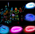 1 M/2 M/3 M/5 M Led Flexible Neon Glow Light el Tubo de la Cuerda Del Cable + Battery Controller Resistente Al Agua LED de Luz Libre gratis