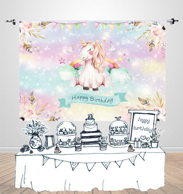 Birthday Party Photography Background Baby Shower Dessert Table