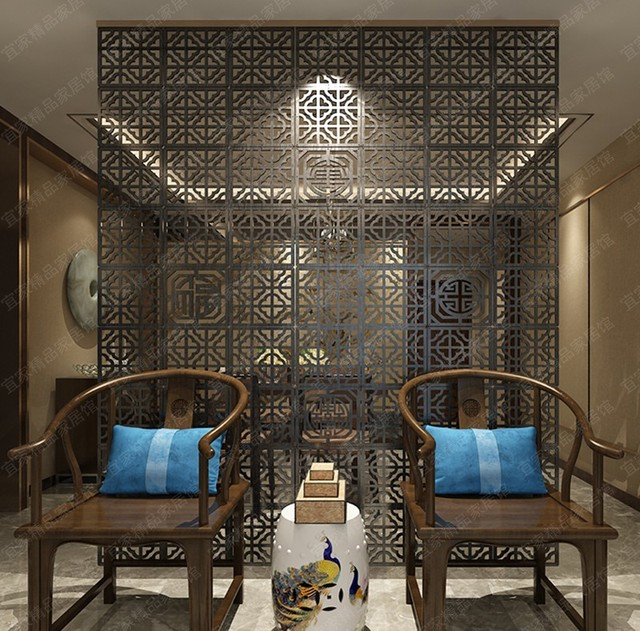 Hanging Wall Panels Wooden Decorative Tile Living Room Bedroom Folding Screen Isolated Personalized Custom Wood Carving