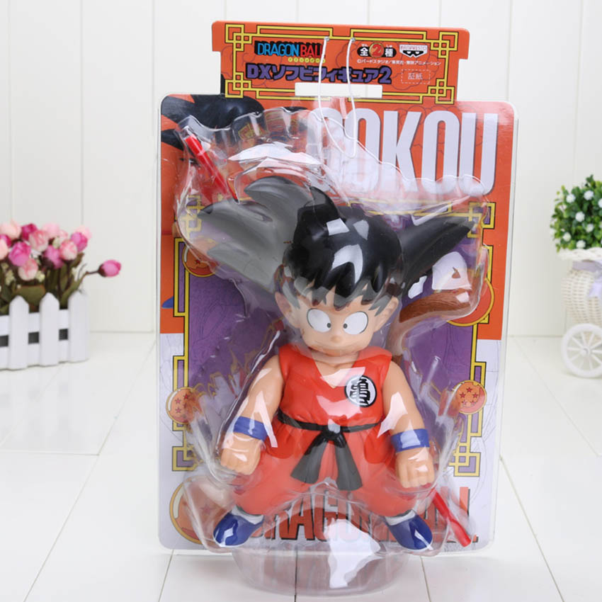 18-25 см Dragon Ball Z Dragon Ball детство Сон Гоку куририн Мастер Роши ПВХ фигурка модель игрушки - Цвет: Son Goku box
