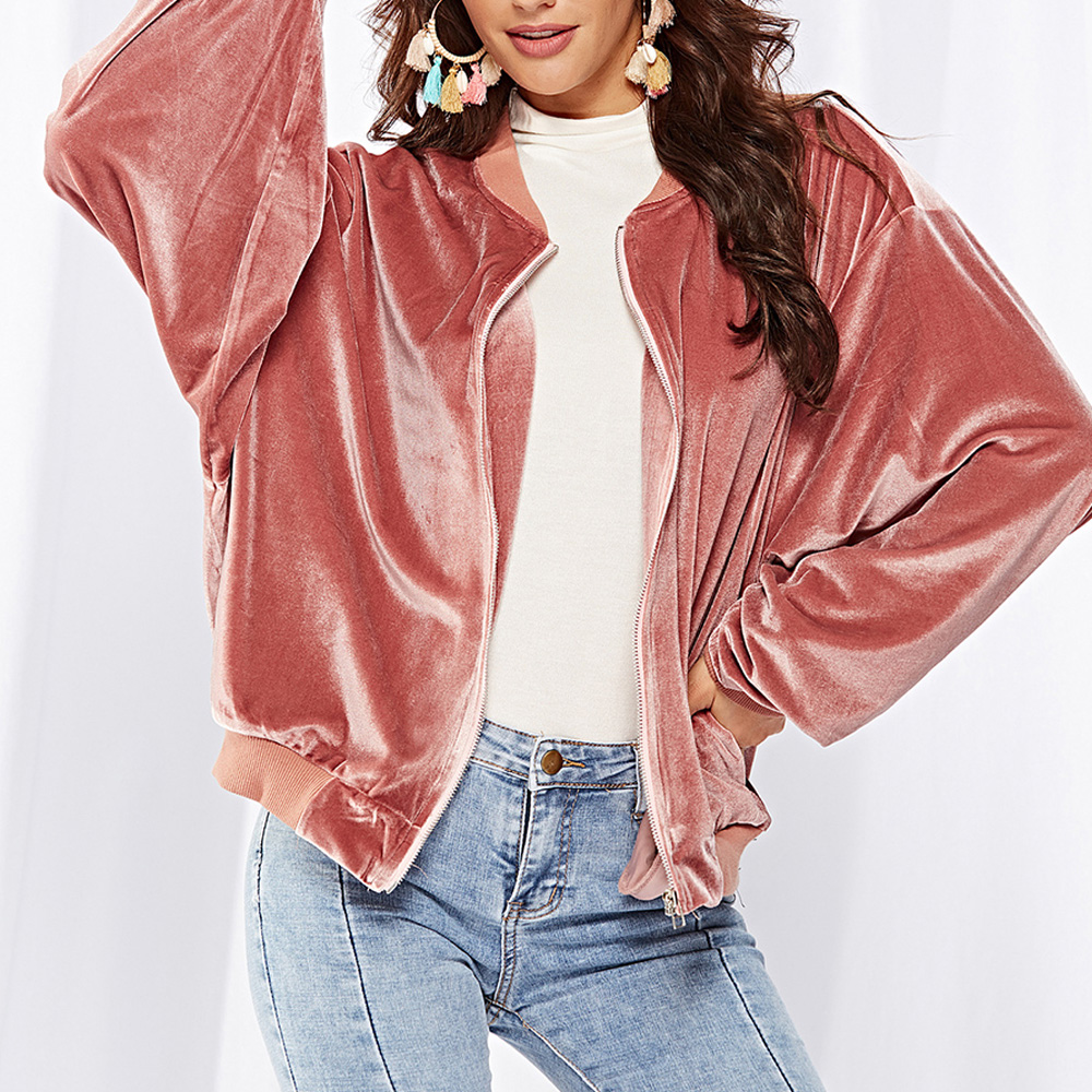 Short Design Women   Basic     Jacket   Ladies Casual Fleece Long Sleeve Baseball Coat Autumn Winter Plus Size Korean   Jackets   Outerwear