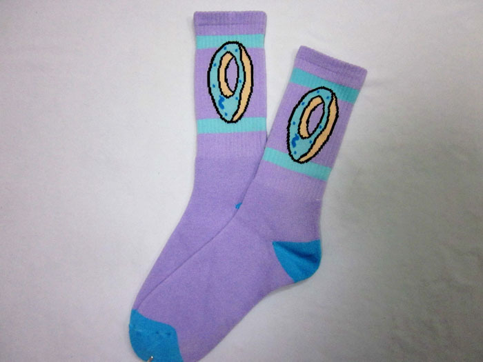 17dd1894975e Aliexpress.com   Buy Retail cotton Fashion cat odd future ofwgkta donut  thicken bottom hiphop men Walking Socks 2pair lot from Reliable walking  socks ...