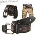 Libre marca de moda Británica hombres casuales clásicas de la elección individual correa de cuero de vaca remache multicolor cinturones para hombres P72