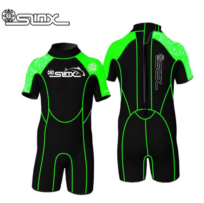SLINX 2mm Neoprene Children Scuba Diving Suit Swimming Swimwear Kite Surfing Water Sports Snorkeling Boating Kid 39 S Wetsuit in Wetsuit from Sports amp Entertainment