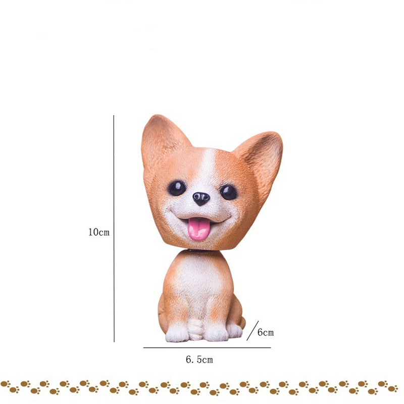 Image 3 - Car Ornament Cute Shake Head Nodding Dog Doll Automotive Interior Dashboard Decoration Bobblehead Puppy Figure Toys Accessories-in Ornaments from Automobiles & Motorcycles
