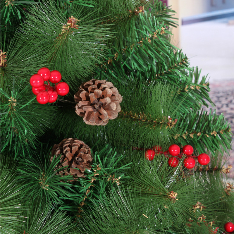 Christmas New Year Preferred 2.1M/2.4M + Small Red Berries Mixed Pine Cones Christmas  Tree Pine Needles Decoration In Trees From Home U0026 Garden On ...