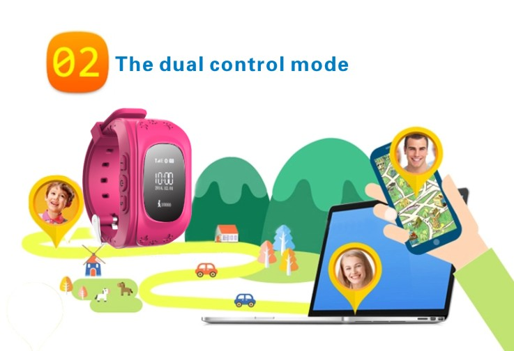 MOCRUX Kids Watches Q50 SOS Call GSM GPRS GPS Smart Baby Watch Track Watch Location Tracker Smart Watch for Child Boys Girls (4)