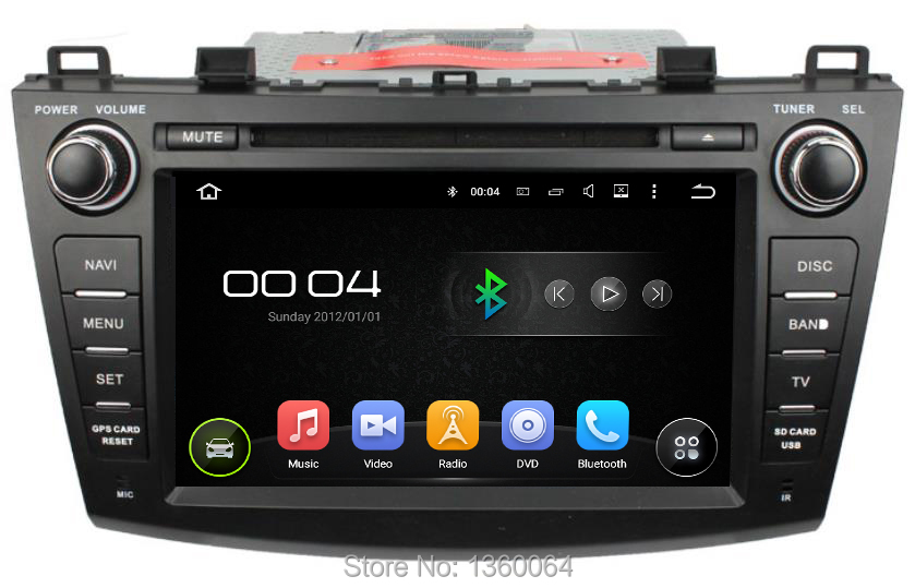 quad core 1024 600 android 5 1 1 car dvd gps for mazda 3 2009 2012 multimedia head unit radio. Black Bedroom Furniture Sets. Home Design Ideas