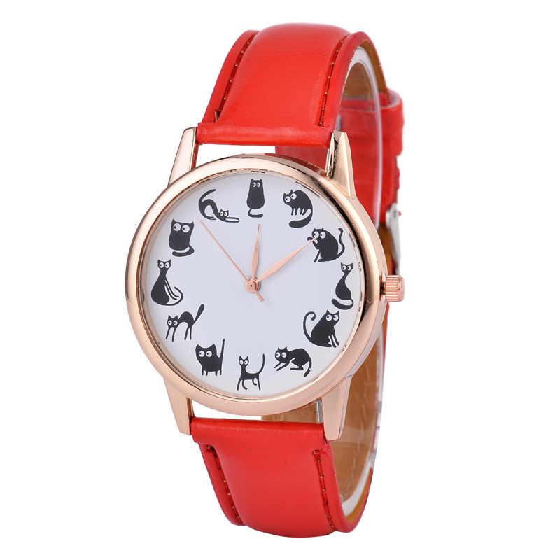 Relojes para mujer, reloj de pulsera de cuarzo con correa de cuero de moda para mujer
